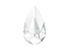 SWAROVSKI ELEMENTS hanger/bedel 6100 Teardrop Pendant druppel facet geslepen ± 24x12mm, ± 6,5mm dik