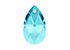 SWAROVSKI ELEMENTS hanger/bedel 6106 Pear-shaped Pendant druppel 16x9,5mm, 5,5mm dik