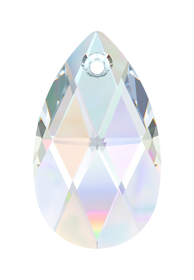 www.beadyourfashion.com - SWAROVSKI ELEMENTS pendant/charm 6106 Pear-shaped Pendant drop faceted ± 16x9,5mm, ± 5,5mm wide