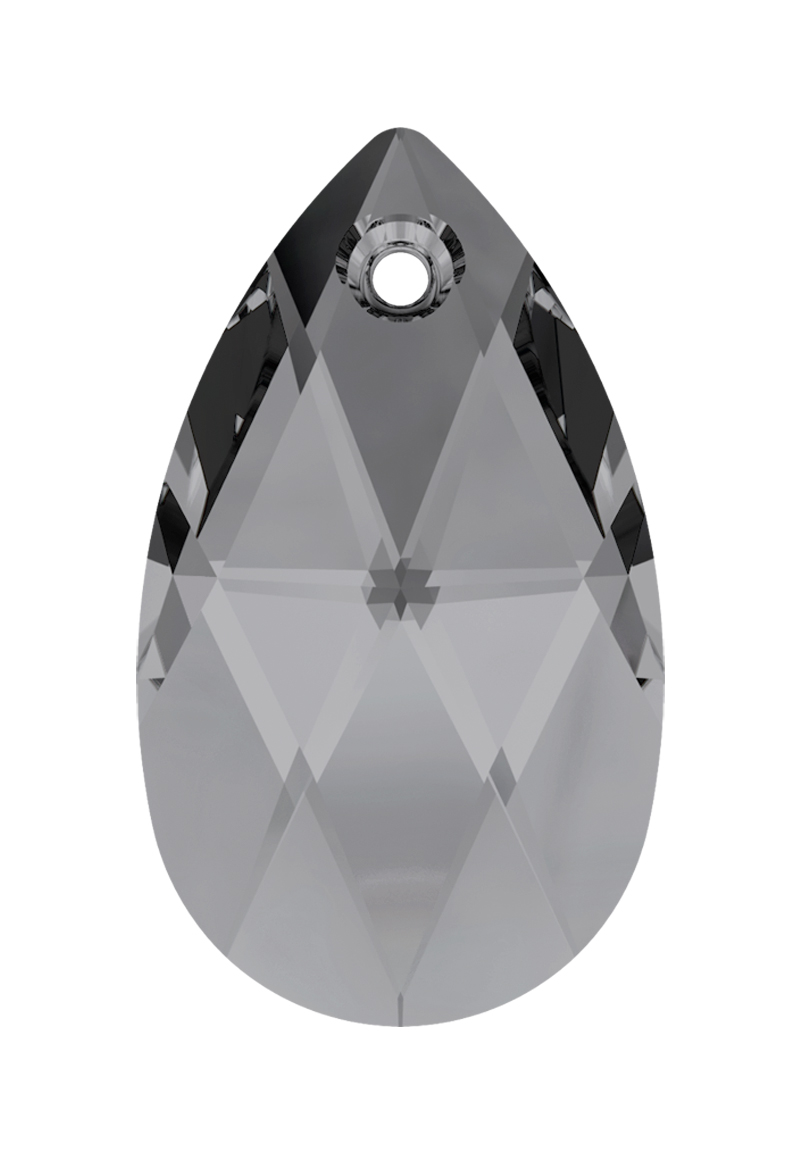 www.beadyourfashion.nl - SWAROVSKI ELEMENTS hanger/bedel 6106 Pear-shaped Pendant druppel facet geslepen ± 28x16,5mm, ± 10mm dik