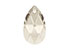 SWAROVSKI ELEMENTS hanger/bedel 6106 Pear-shaped Pendant druppel facet geslepen ± 28x16,5mm, ± 10mm dik