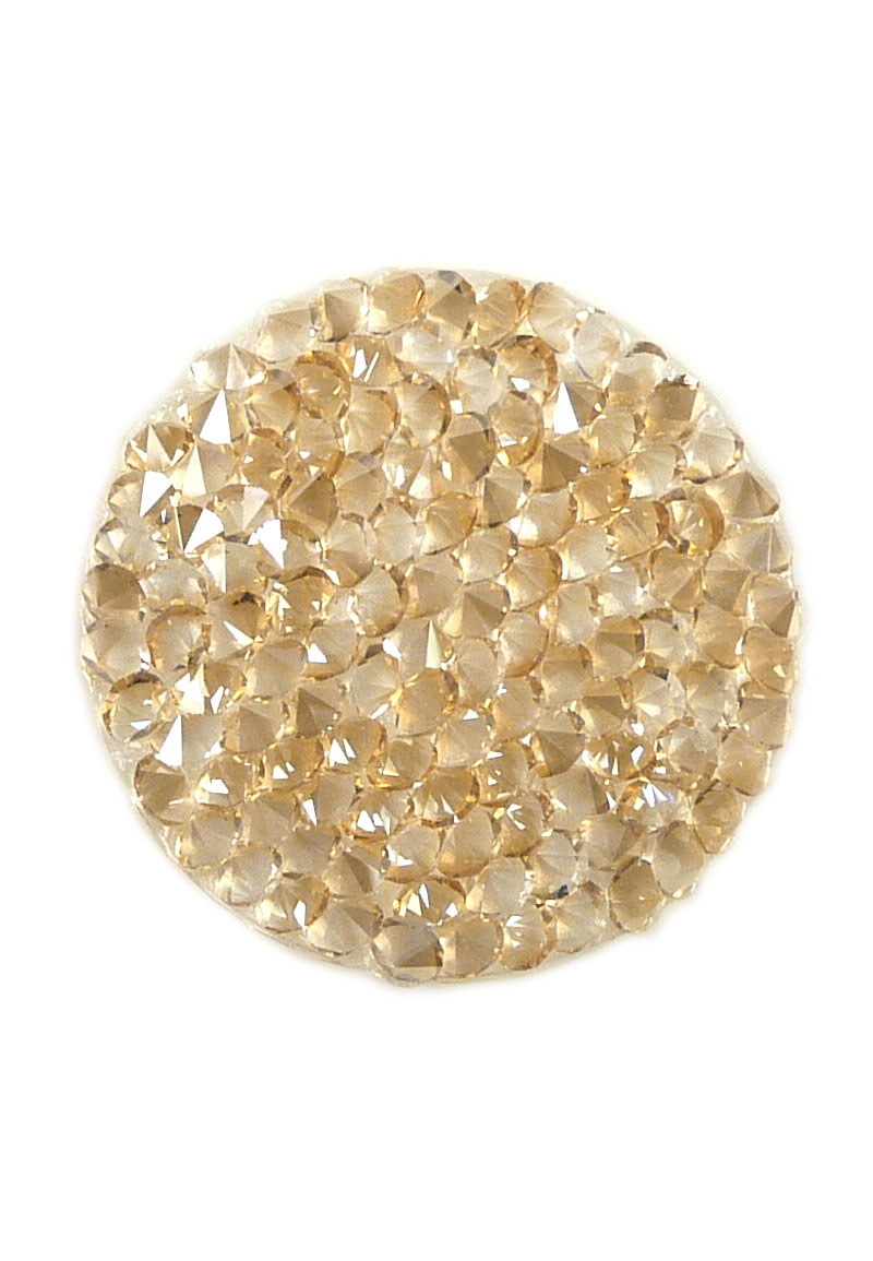 www.beadyourfashion.nl - SWAROVSKI ELEMENTS schijf 72013 Crystal Rock Hotfix rond 24mm