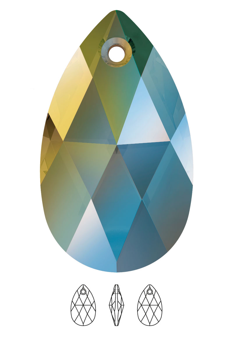 www.beadyourfashion.nl - SWAROVSKI ELEMENTS Hanger/Bedel 6106 Pear-Shaped Pendant druppel 16x9,5mm