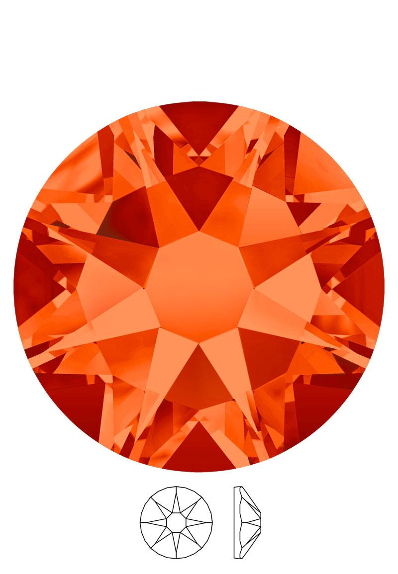 www.beadyourfashion.fr - SWAROVSKI ELEMENTS cabochon 2088 Xirius Rose Enhanced circulaire SS12 3,1mm