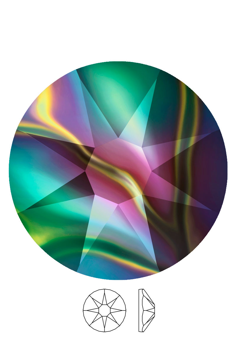 www.beadyourfashion.com - SWAROVSKI ELEMENTS flat backs 2088 XIRIUS Rose Enhanced SS12 3,1mm