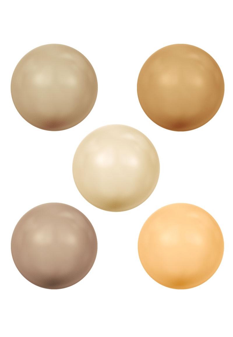 www.beadyourfashion.com - Mix SWAROVSKI ELEMENTS beads 5810 Crystal Pearl round 6mm
