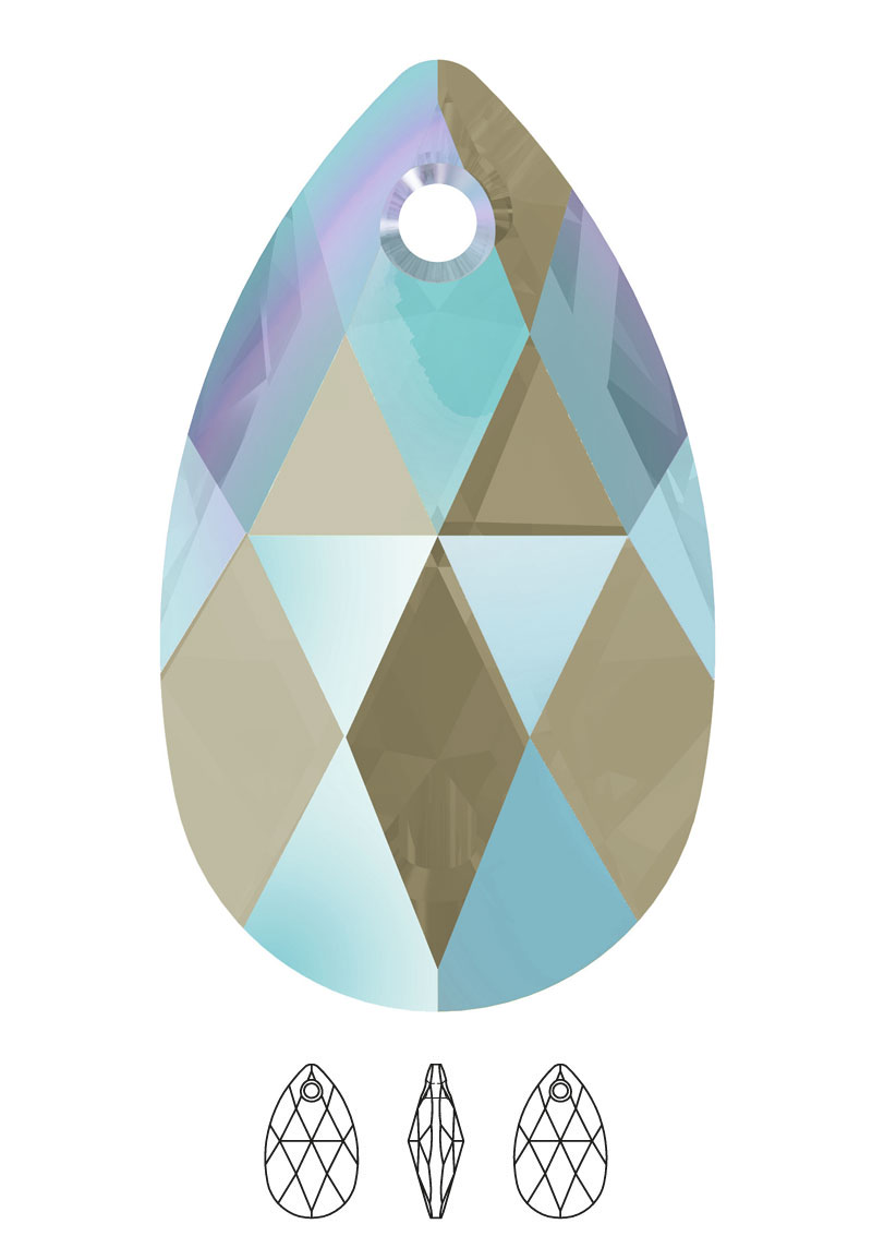 www.beadyourfashion.com - SWAROVSKI ELEMENTS charm/pendant 6106 Pear-Shaped Pendant drop 16x9,5mm