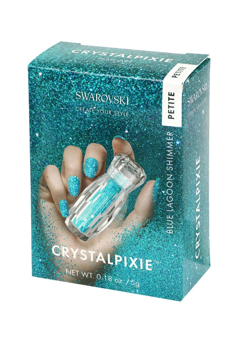www.beadyourfashion.com - SWAROVSKI ELEMENTS nail art CRYSTALPIXIE Petite Blue Lagoon Shimmer