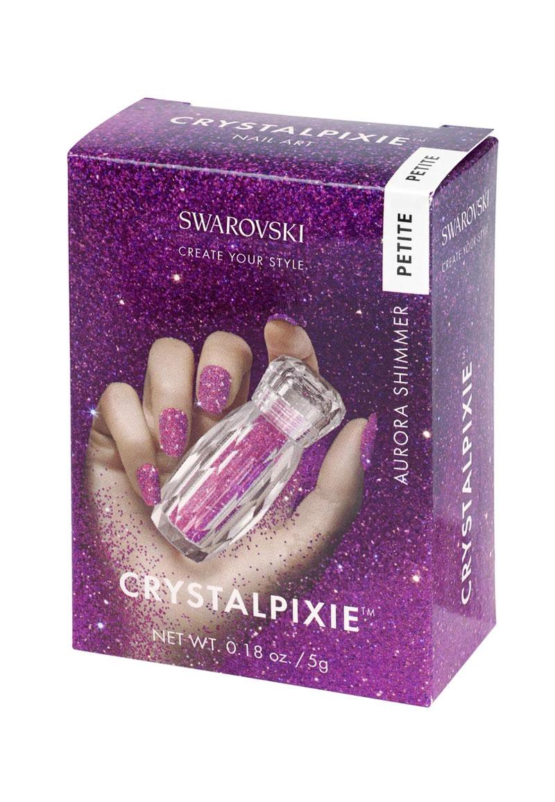 www.beadyourfashion.com - SWAROVSKI ELEMENTS nail art CRYSTALPIXIE Petite Aurora Shimmer