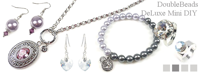 www.beadyourfashion.com - DoubleBeads DeLuxe mini jewelry kits
