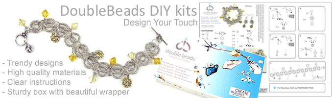 www.beadyourfashion.com - DoubleBeads DeLuxe DIY jewelry kits