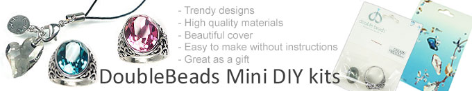 www.beadyourfashion.com - DoubleBeads DeLuxe Mini DIY jewelry kits