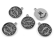 www.beadyourfashion.com - Metal charms zodiac