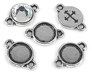www.beadyourfashion.com - Metal charms cross