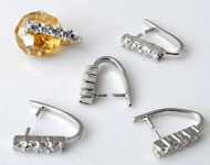 www.beadyourfashion.com - Crimps with cubic zirconia strass