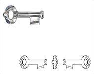 www.beadyourfashion.nl - 6919 Key Pendant