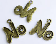 www.beadyourfashion.com - Metal charms letters/alphabet