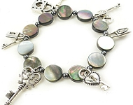 www.beadyourfashion.nl - BeadYourFashion Mini project lock & key charm bracelet