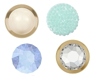 www.beadyourfashion.com - New SWAROVSKI ELEMENTS hotfix flat backs and cabochons